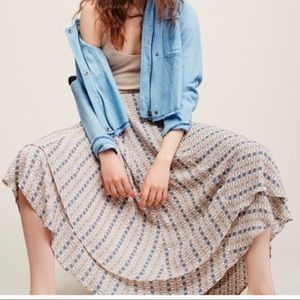 Free people wrap skirt